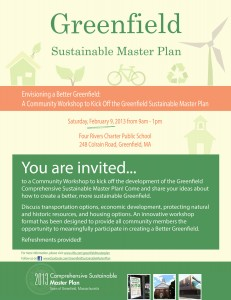 Greenfield Sustainable Master Plan forum 1 flyer